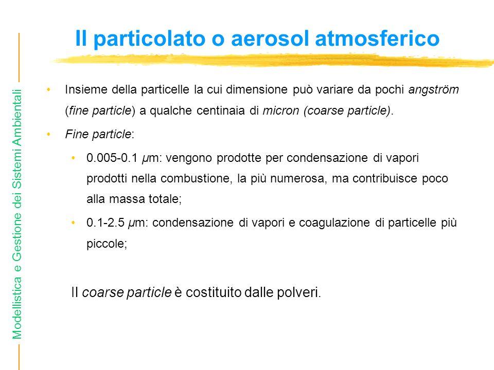 Il particolato o aerosol atmosferico