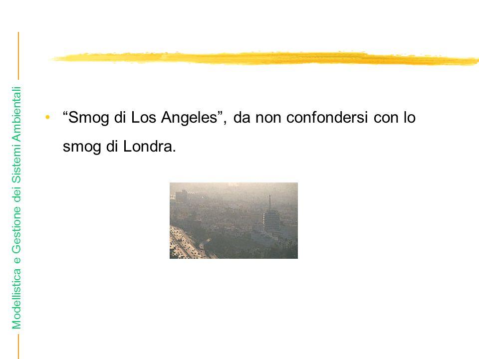 Smog di Los Angeles , da non confondersi con lo smog di Londra.