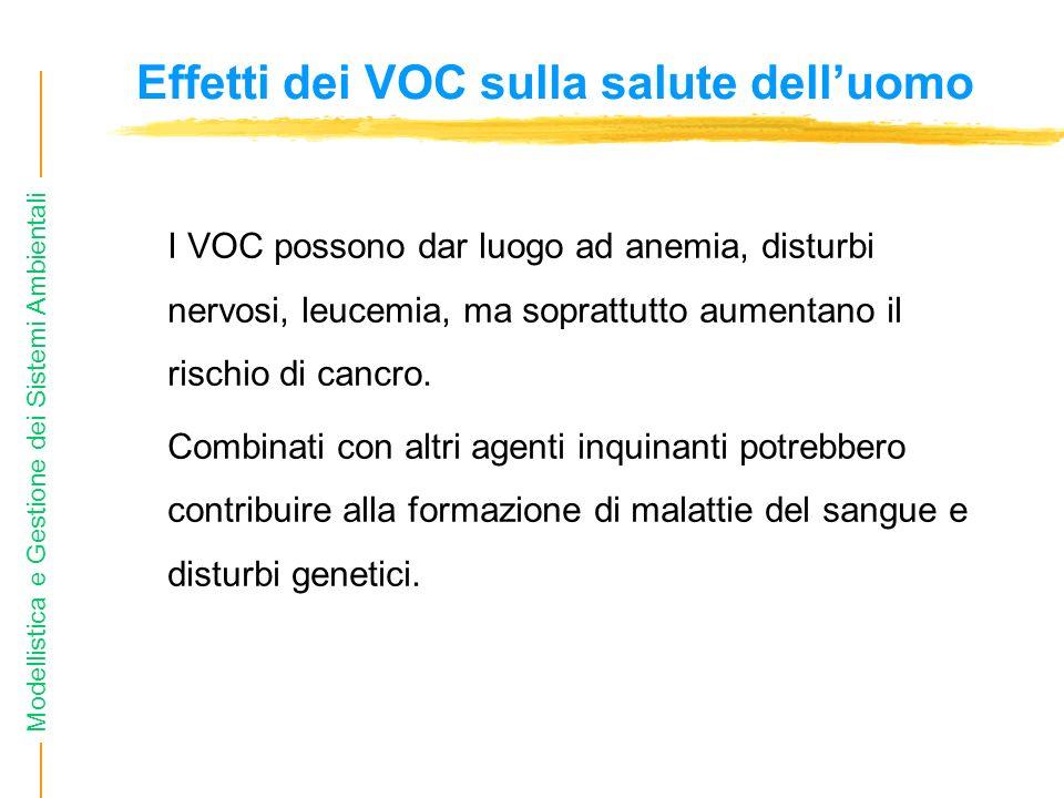 Effetti dei VOC sulla salute dell'uomo