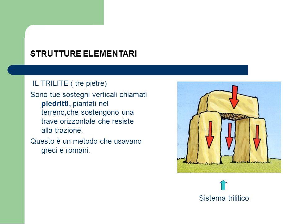 STRUTTURE ELEMENTARI IL TRILITE ( tre pietre)