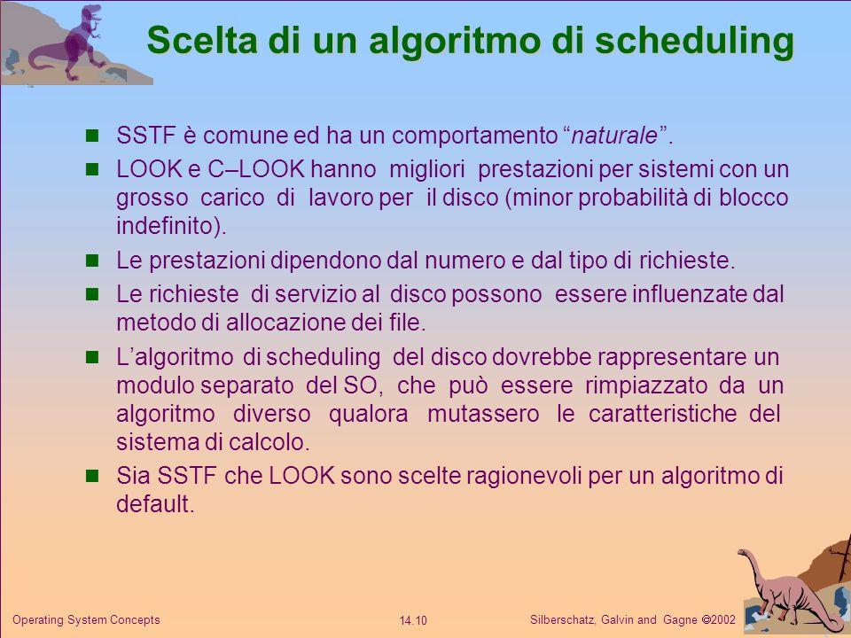 Scelta di un algoritmo di scheduling