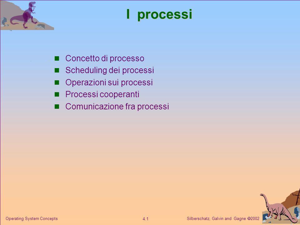 I processi Concetto di processo Scheduling dei processi