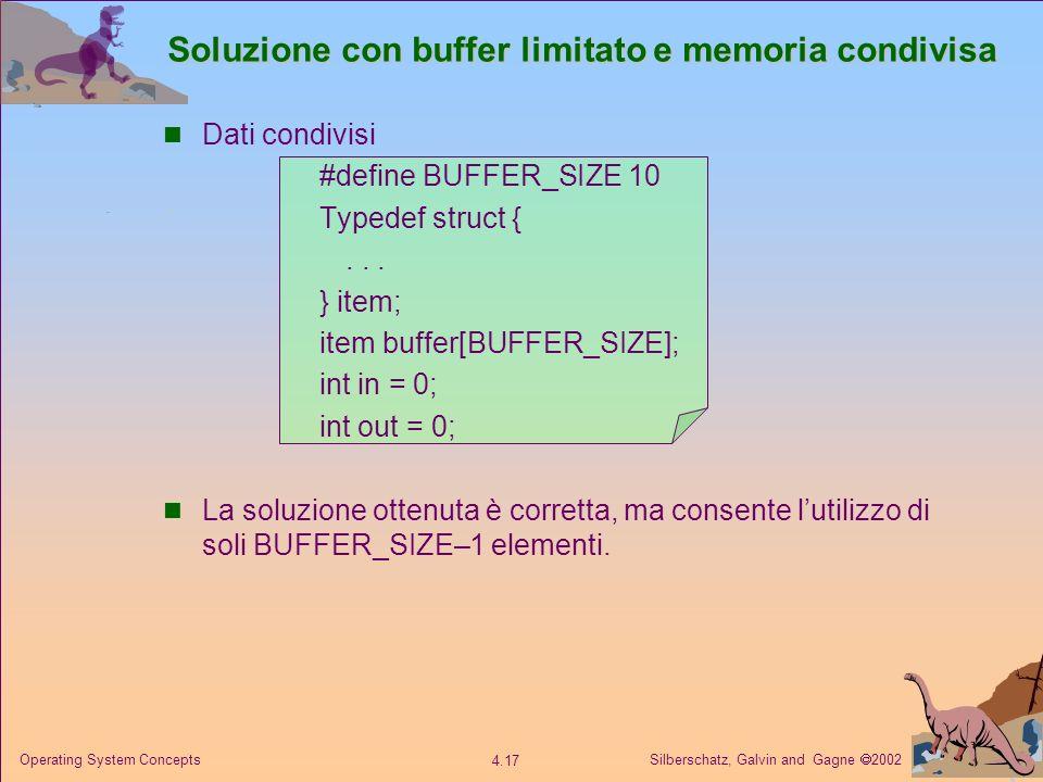 Soluzione con buffer limitato e memoria condivisa