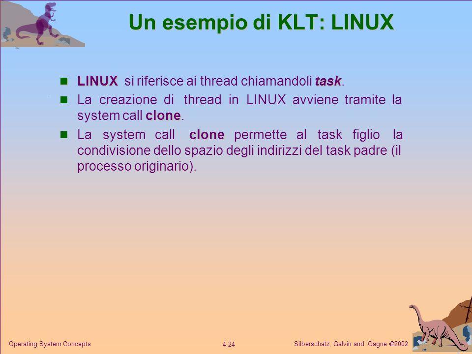 Un esempio di KLT: LINUX