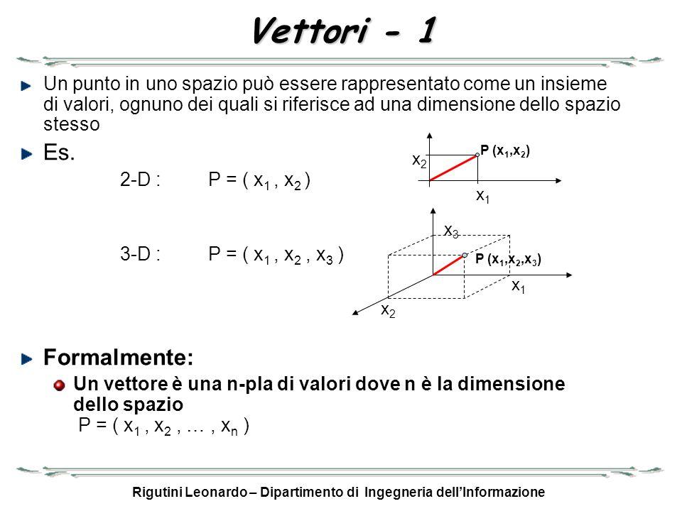 Rigutini Leonardo – Dipartimento di Ingegneria dell'Informazione