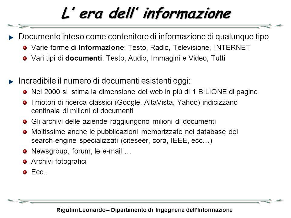 L' era dell' informazione