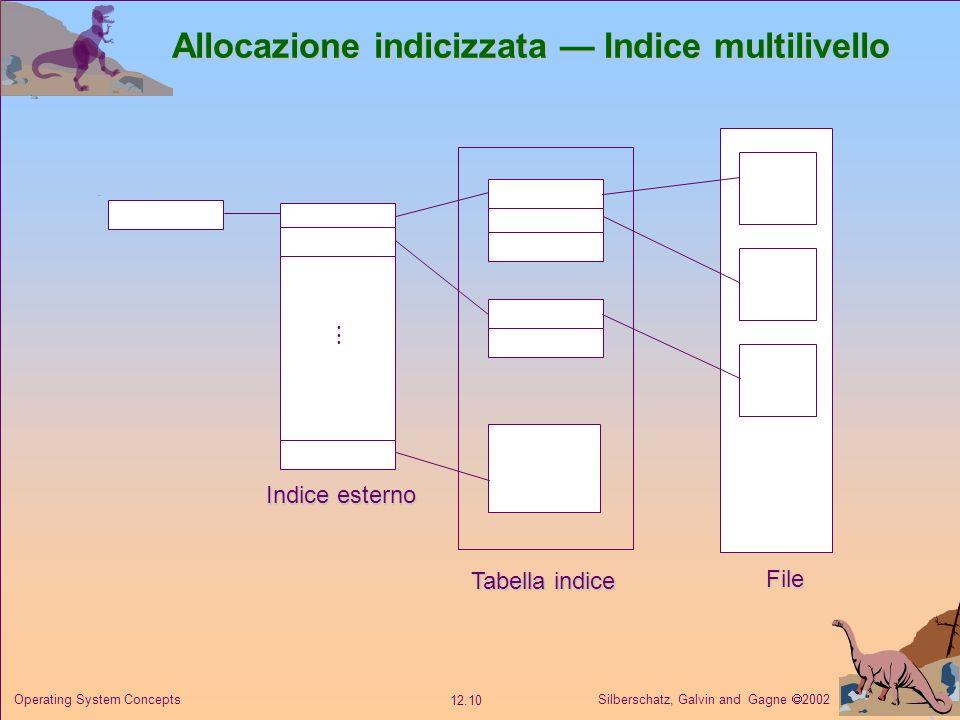 Allocazione indicizzata — Indice multilivello