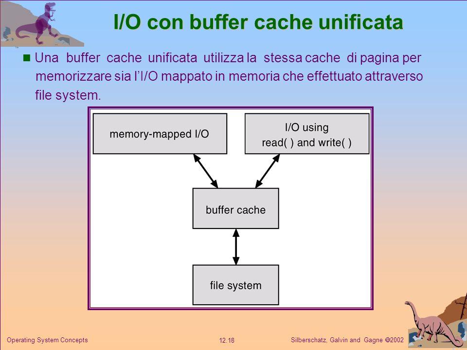 I/O con buffer cache unificata