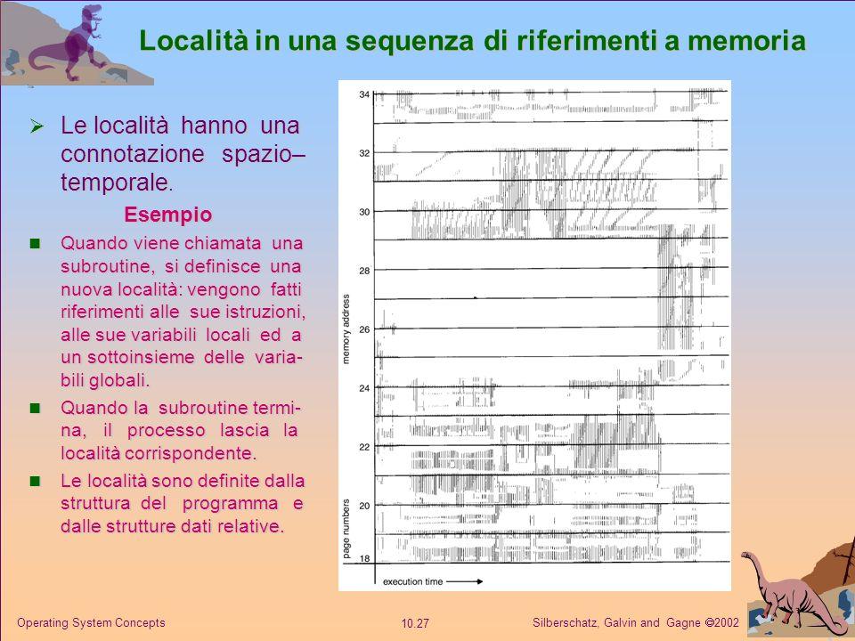 Località in una sequenza di riferimenti a memoria
