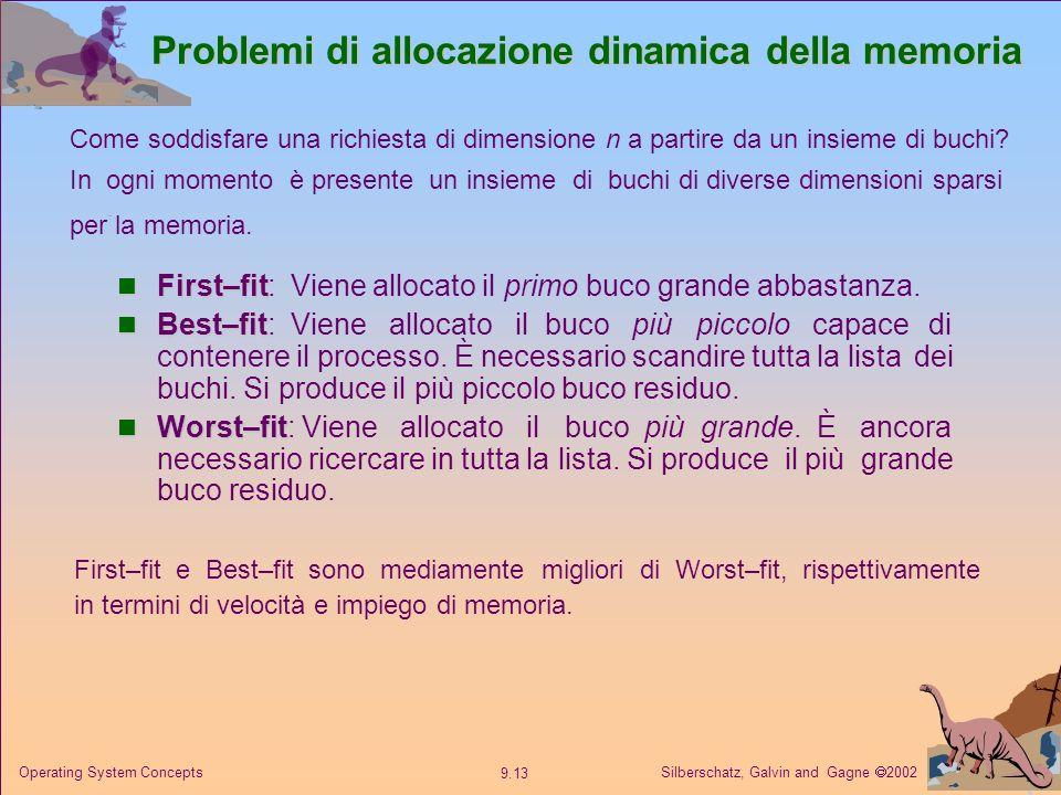 Problemi di allocazione dinamica della memoria