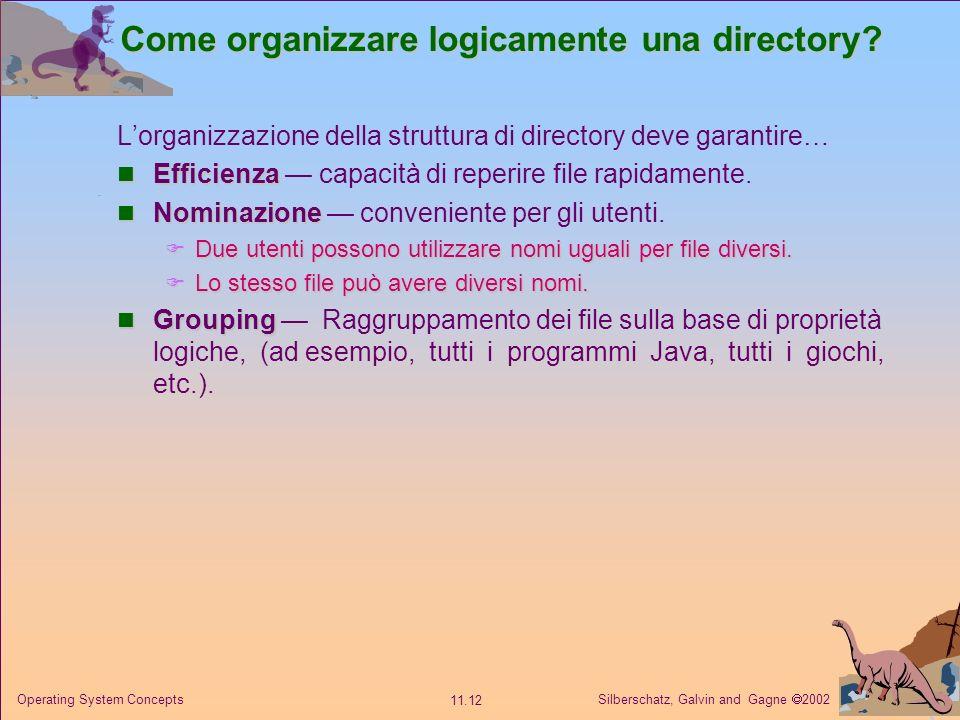 Come organizzare logicamente una directory