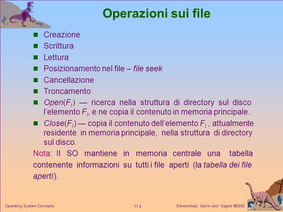 Operazioni sui file Creazione Scrittura Lettura