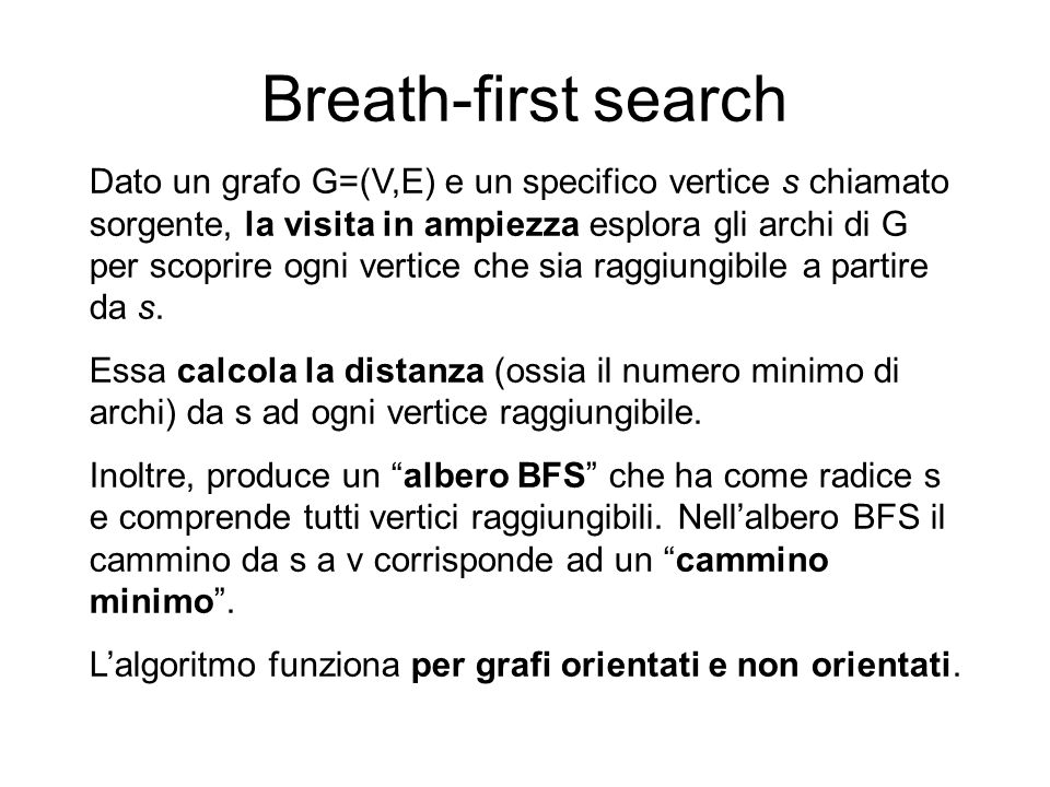 Breath-first search