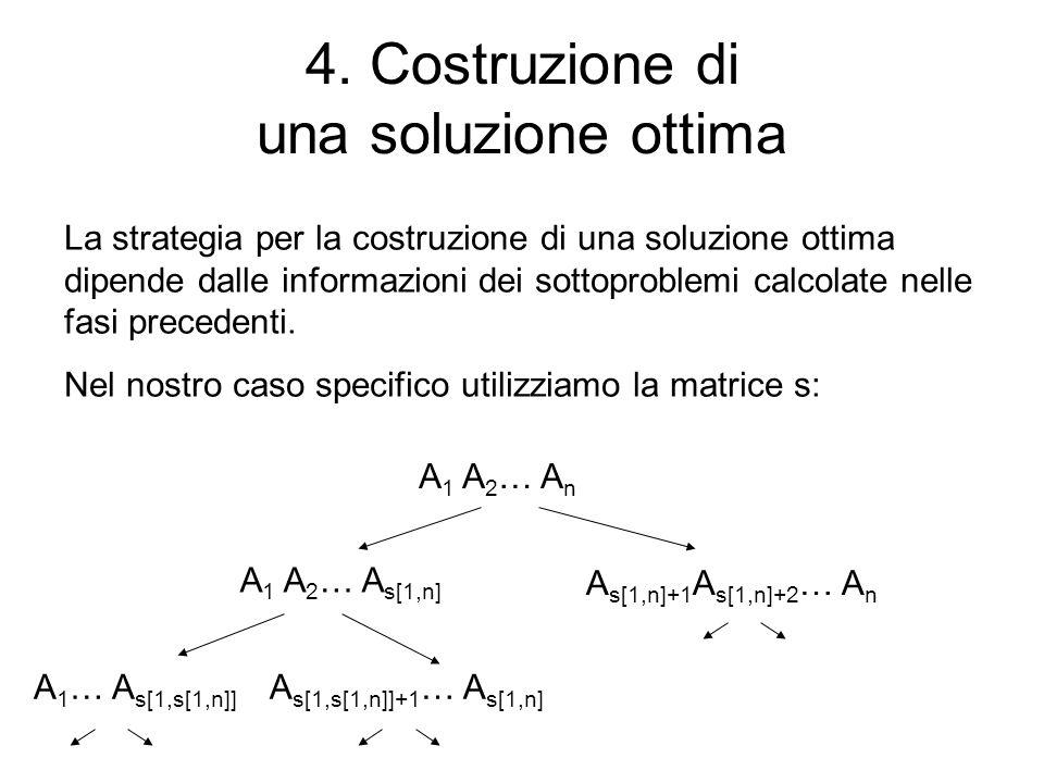 4. Costruzione di una soluzione ottima