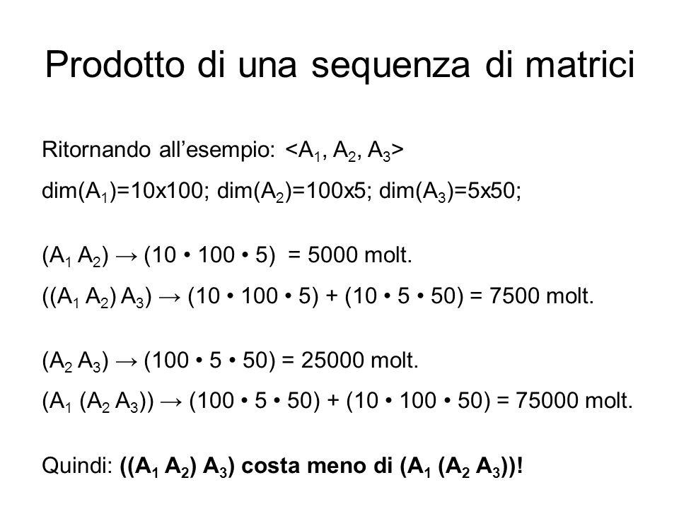 Prodotto di una sequenza di matrici