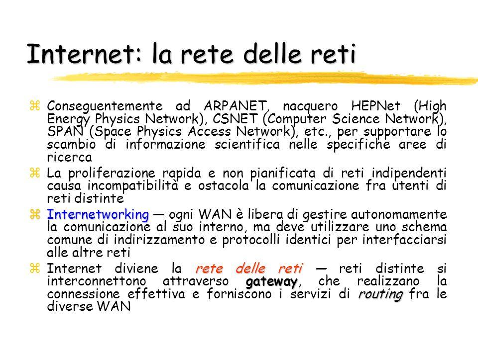 Internet: la rete delle reti