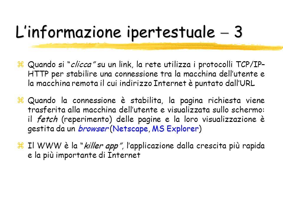 L'informazione ipertestuale  3
