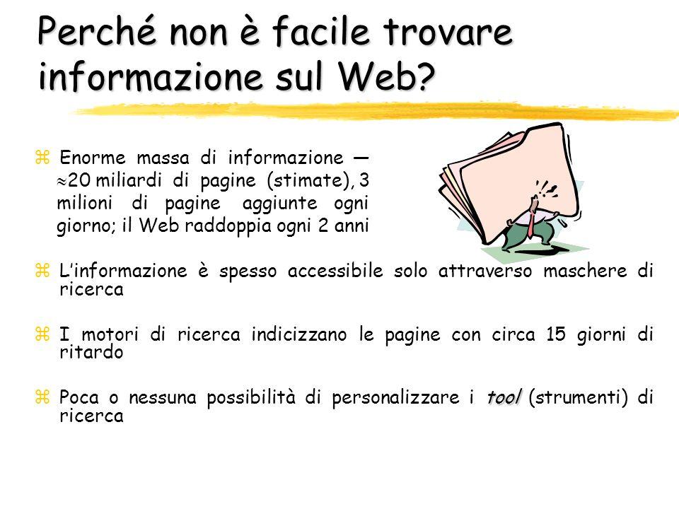 Perché non è facile trovare informazione sul Web