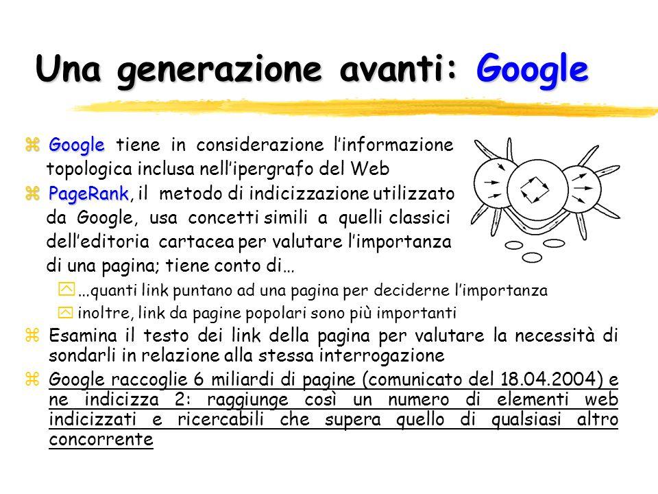 Una generazione avanti: Google