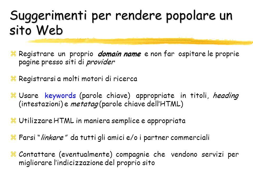 Suggerimenti per rendere popolare un sito Web