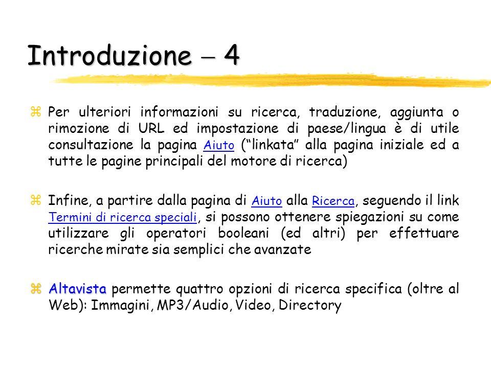 Introduzione  4