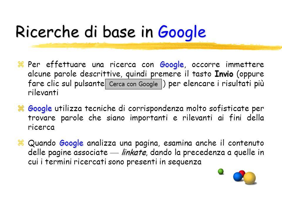 Ricerche di base in Google