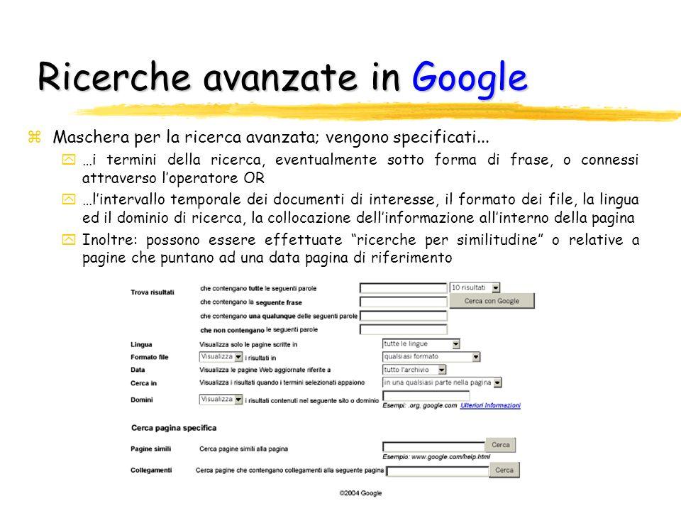 Ricerche avanzate in Google