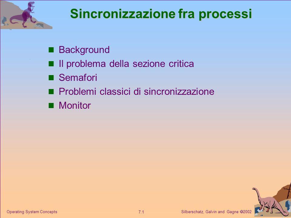 Sincronizzazione fra processi