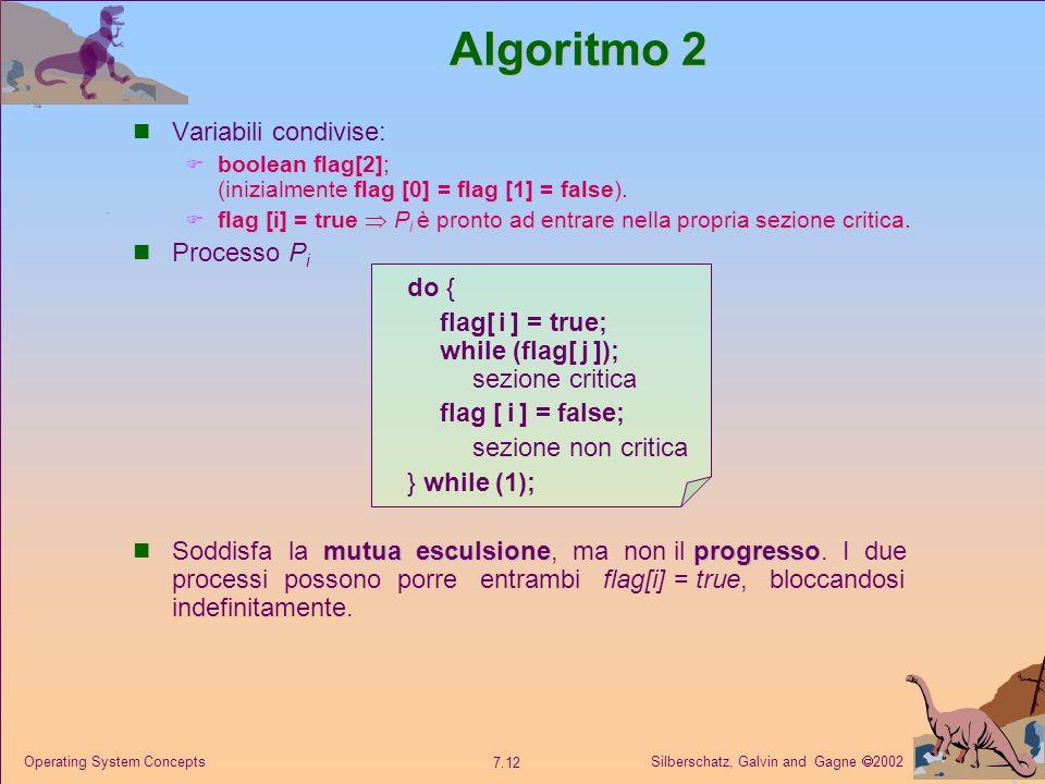 Algoritmo 2 Variabili condivise: Processo Pi do {