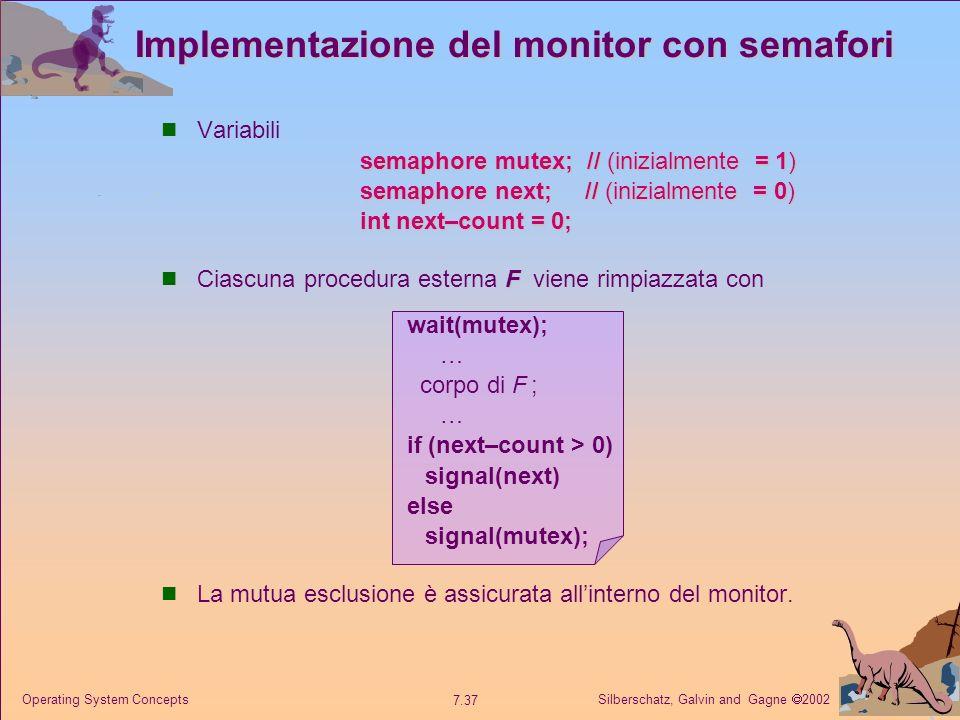 Implementazione del monitor con semafori