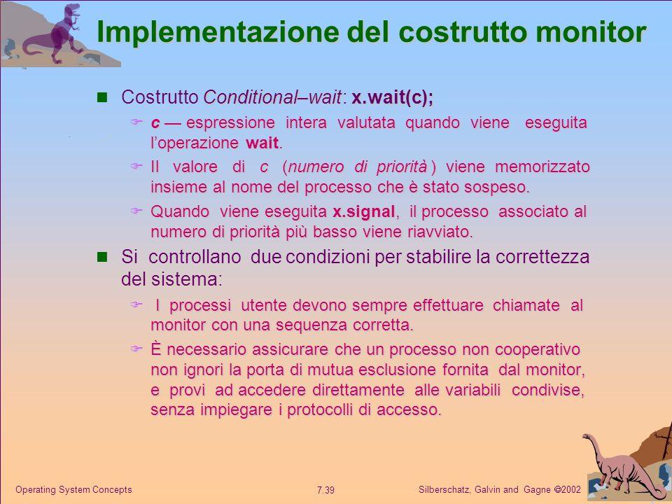 Implementazione del costrutto monitor