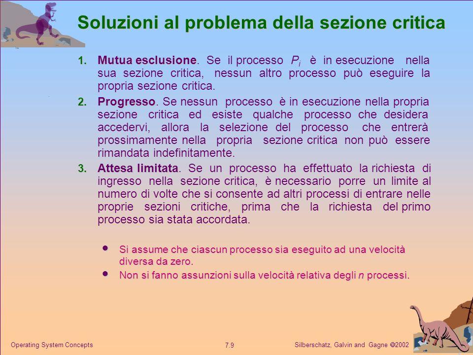Soluzioni al problema della sezione critica