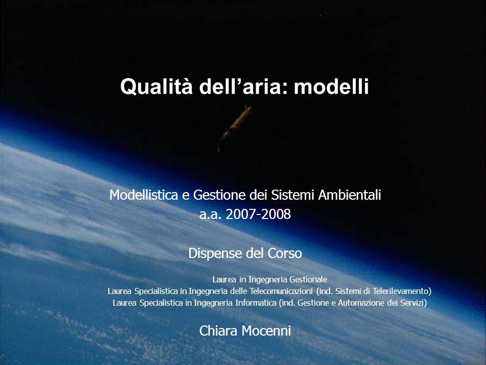 Qualità dell'aria: modelli