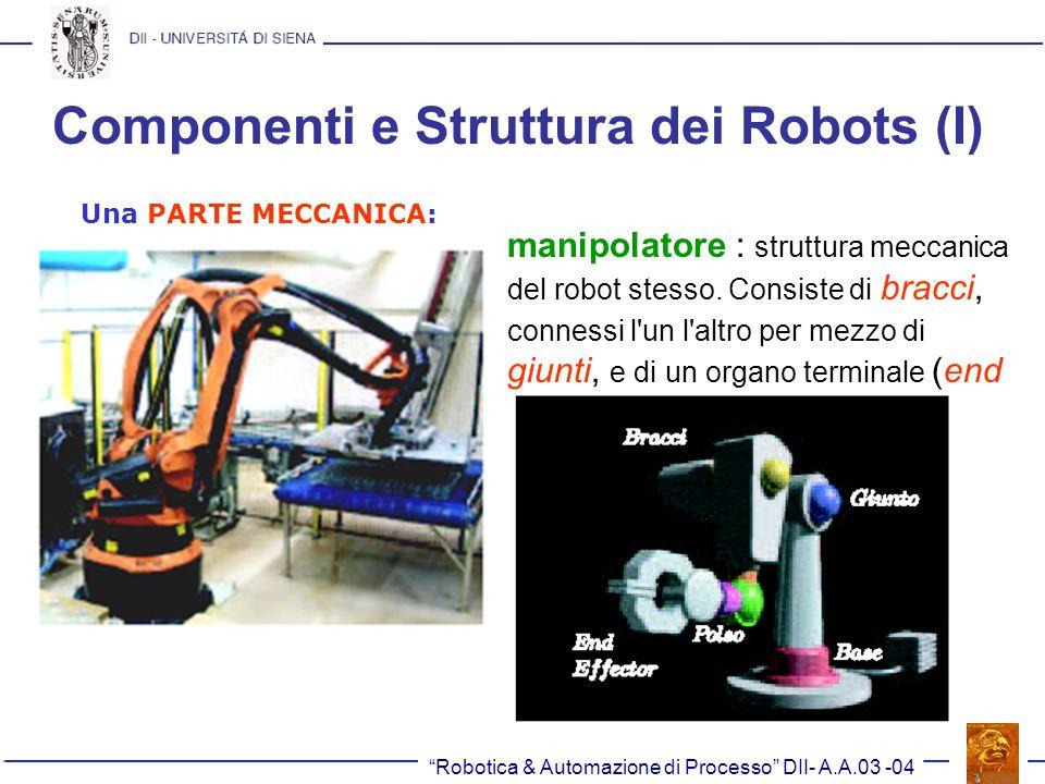 Componenti e Struttura dei Robots (I)