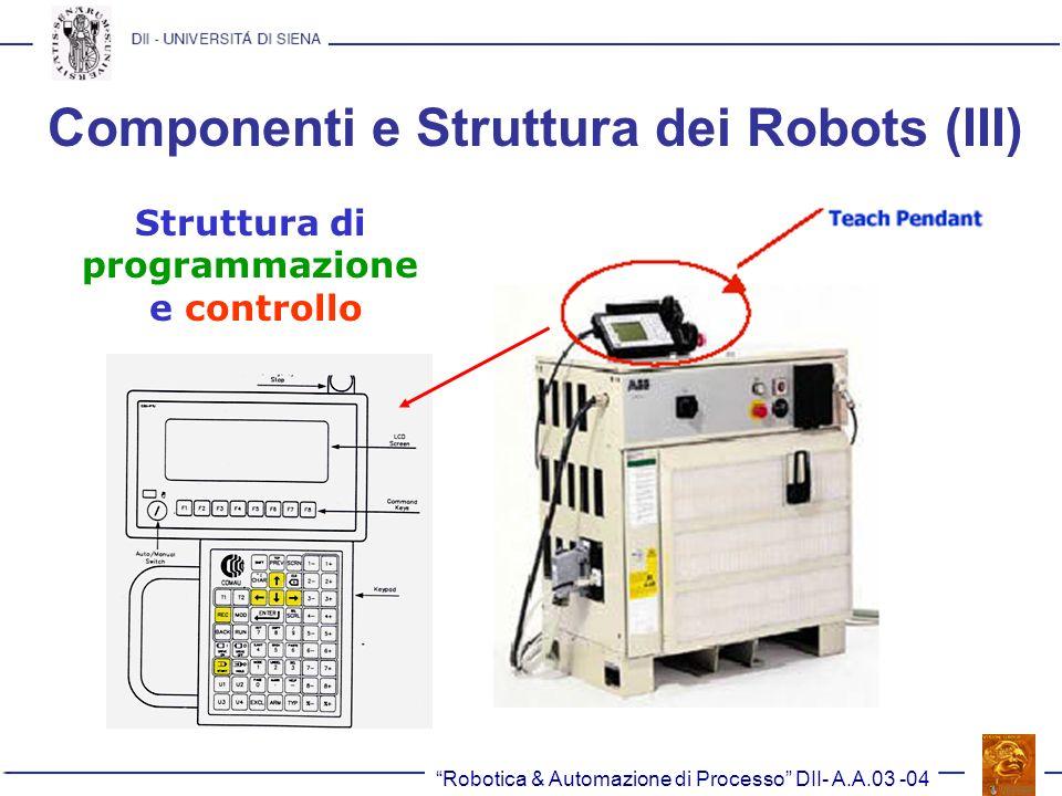 Componenti e Struttura dei Robots (III)