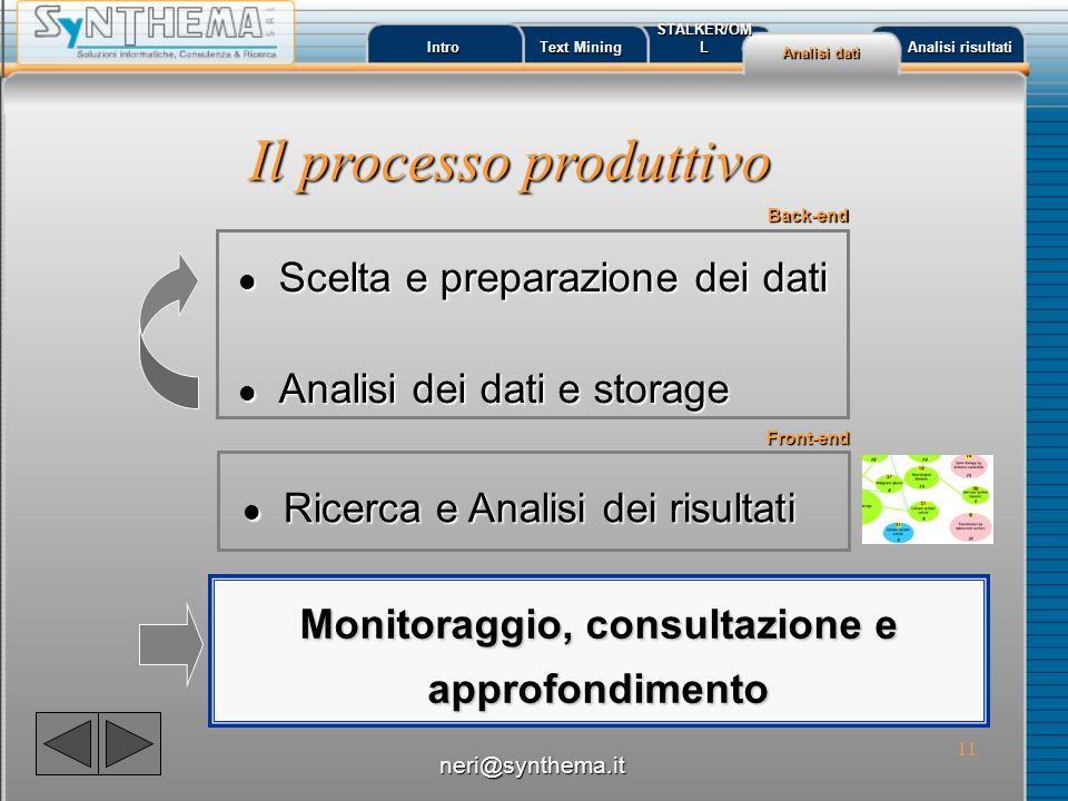 Monitoraggio, consultazione e approfondimento