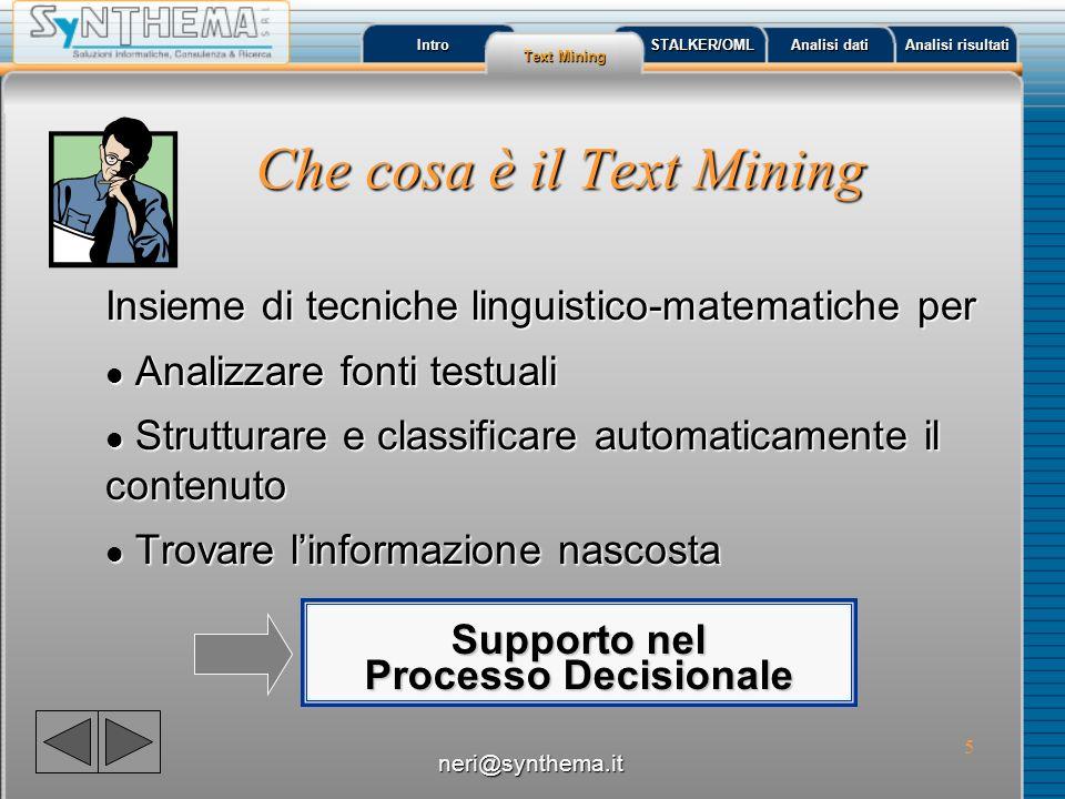 Che cosa è il Text Mining