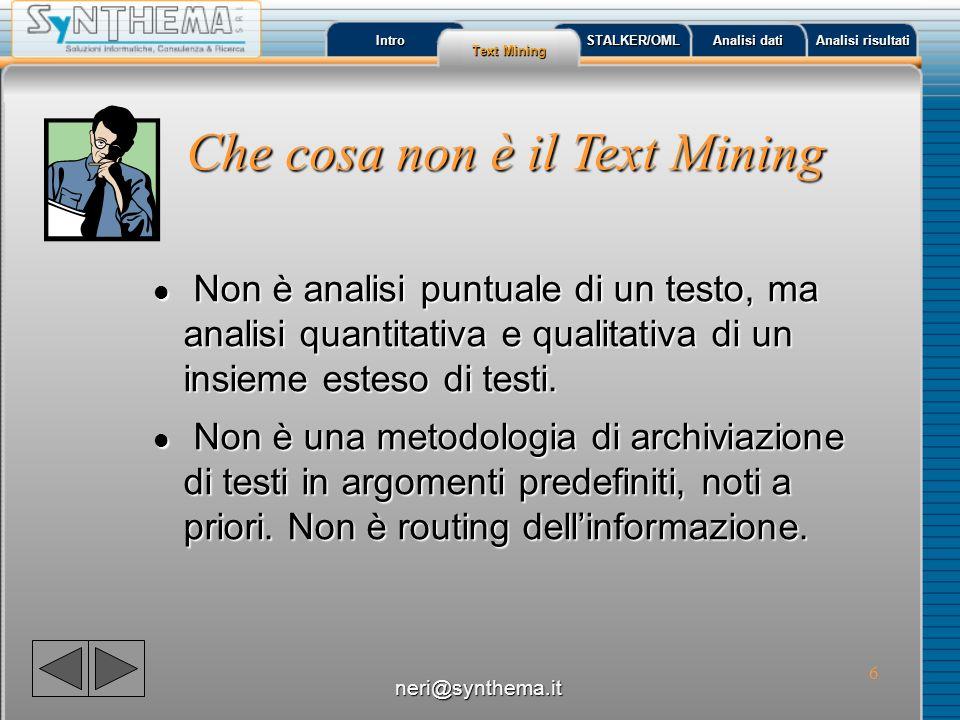 Che cosa non è il Text Mining