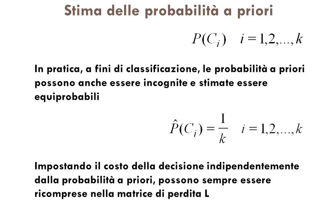 Stima delle probabilità a priori