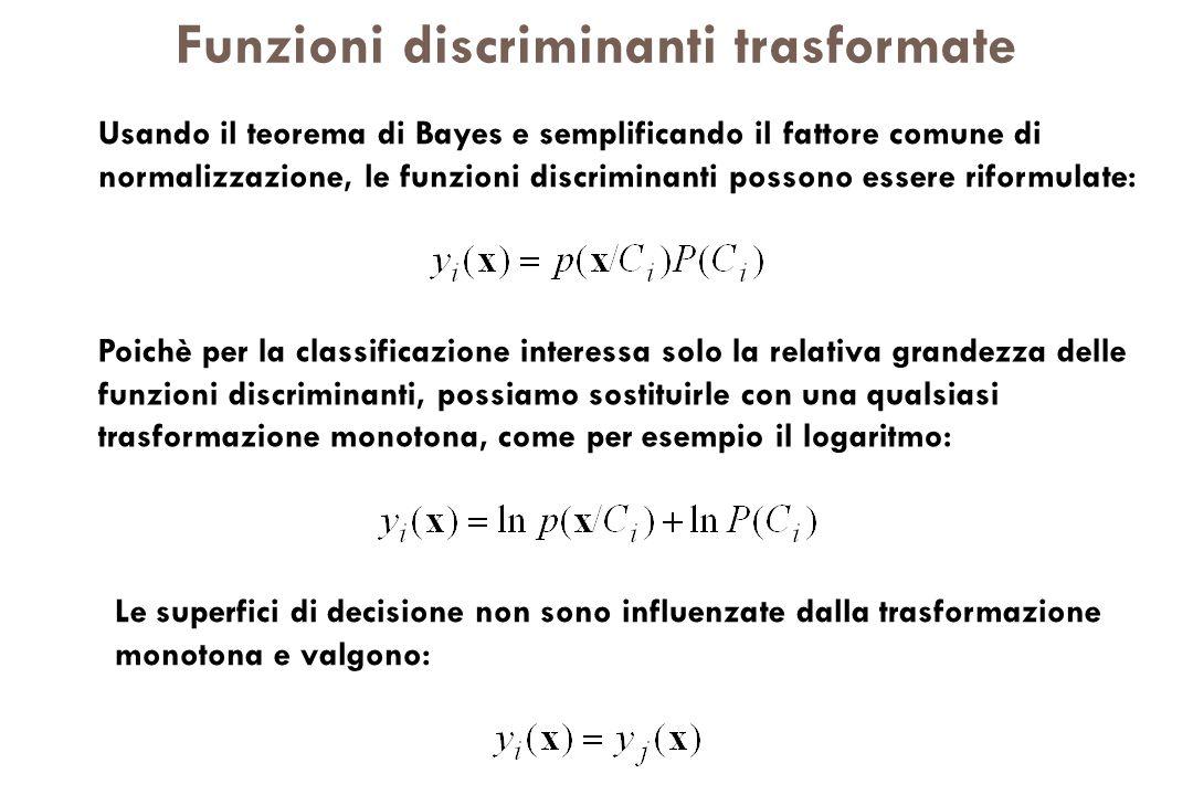 Funzioni discriminanti trasformate