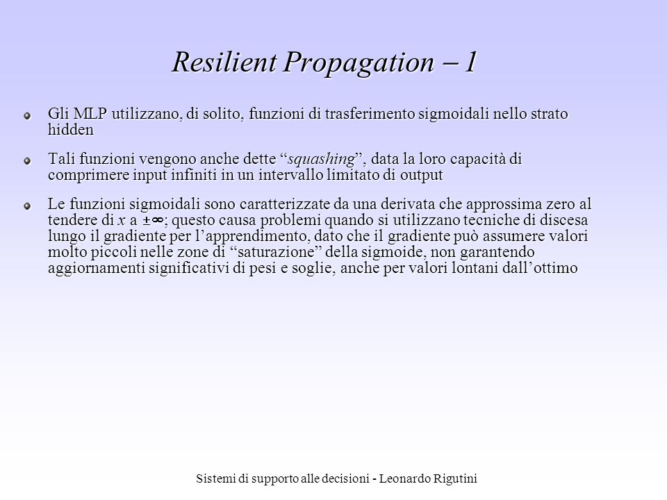 Resilient Propagation  1