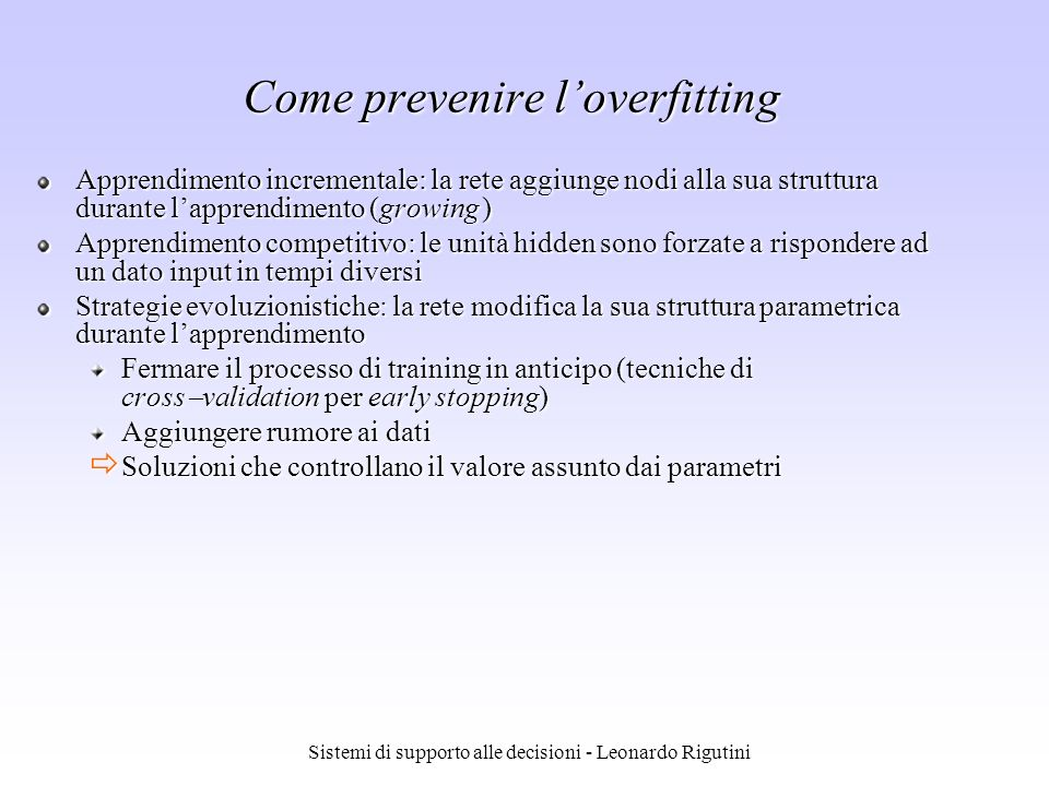 Come prevenire l'overfitting