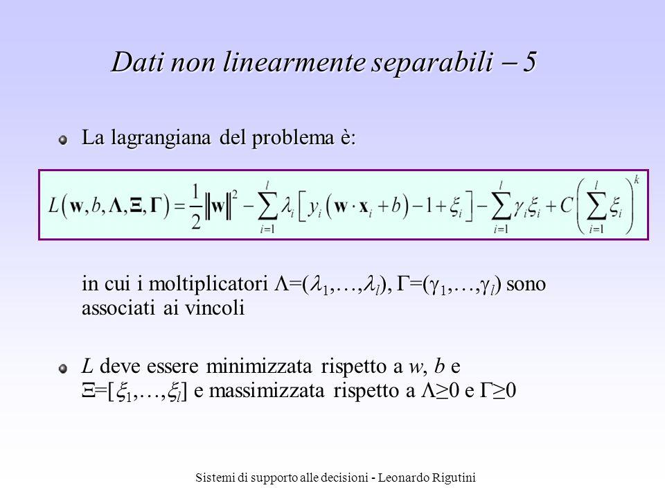 Dati non linearmente separabili  5