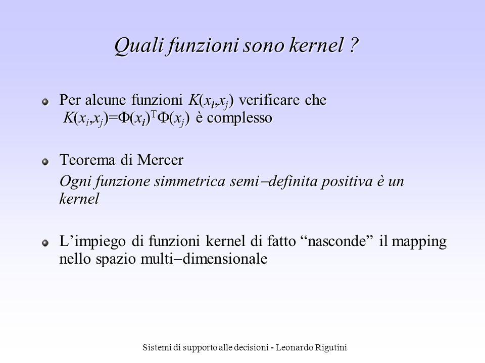 Quali funzioni sono kernel