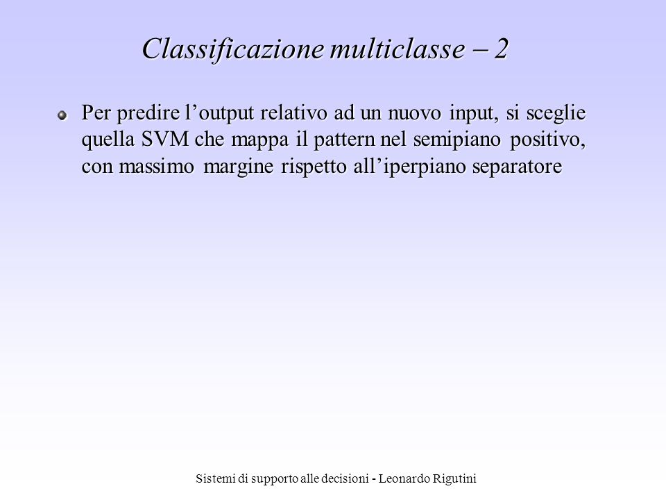 Classificazione multiclasse  2