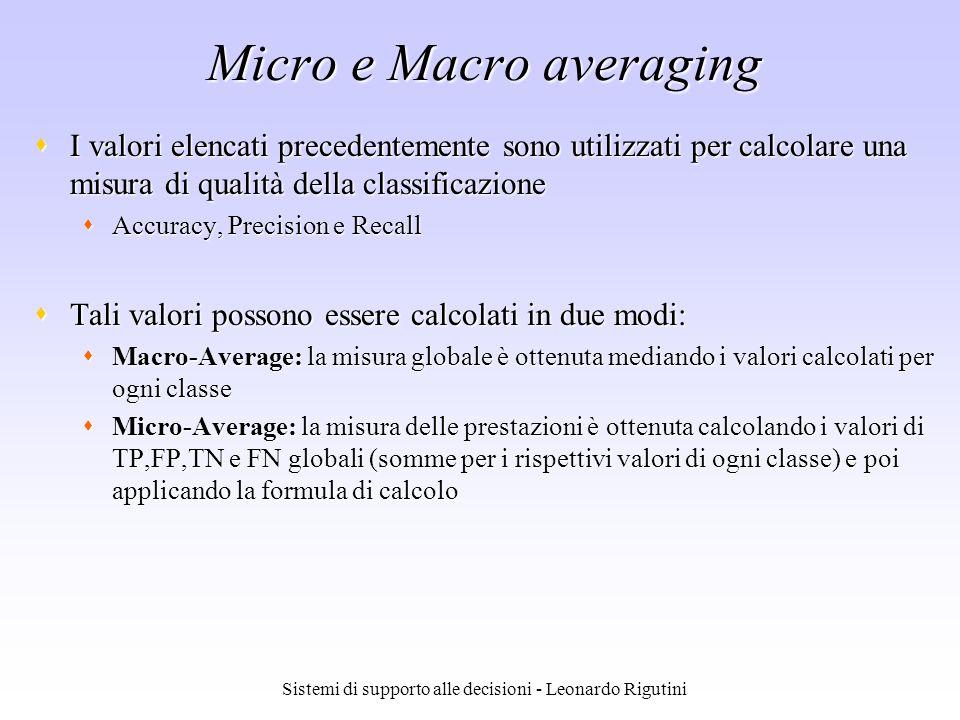 Micro e Macro averaging