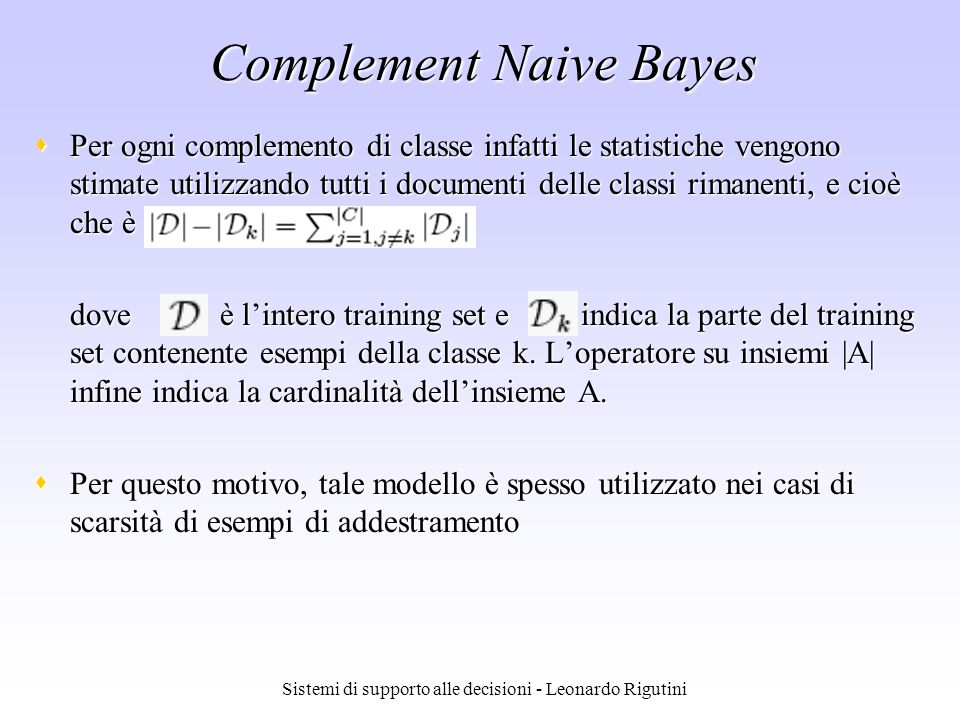 Complement Naive Bayes