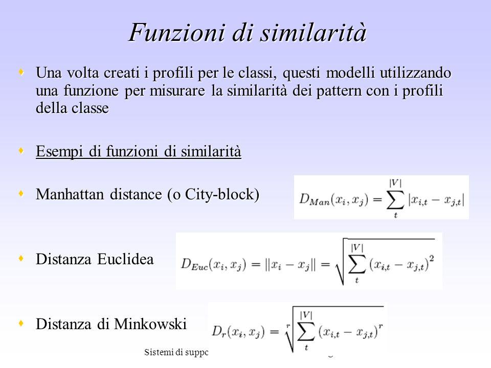 Funzioni di similarità