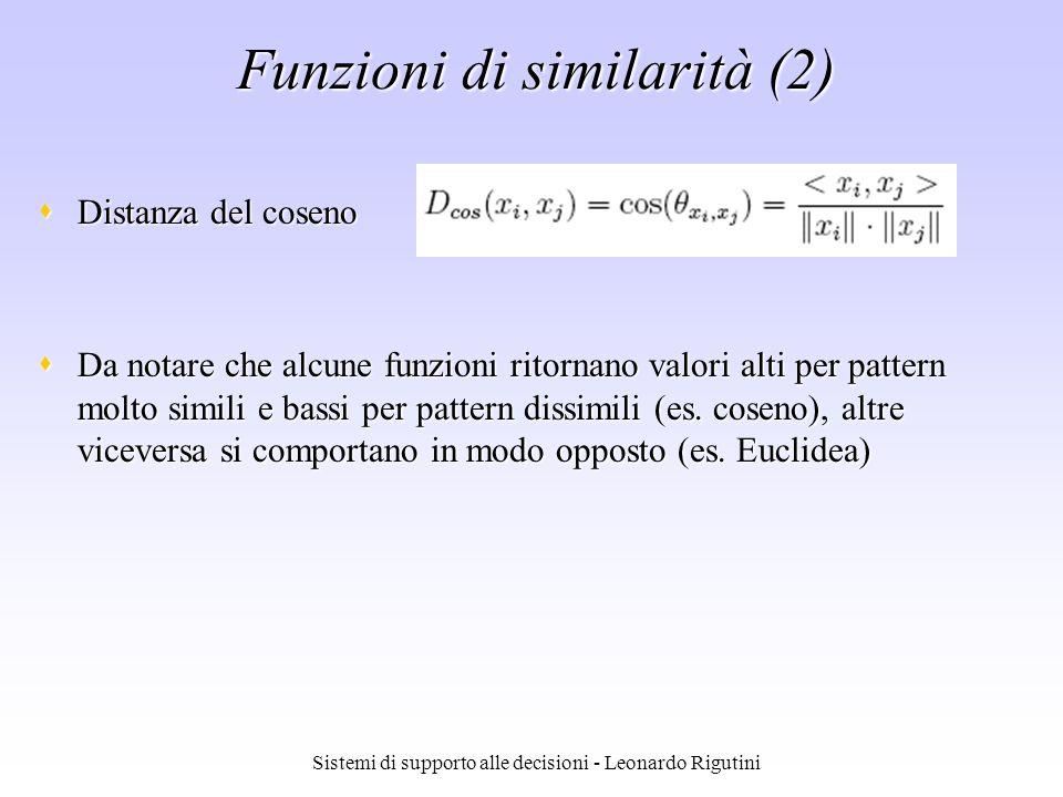 Funzioni di similarità (2)