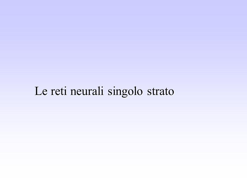 Le reti neurali singolo strato